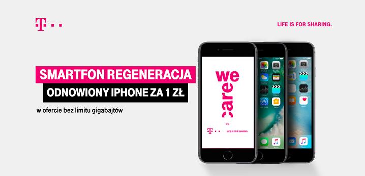 """Smartfon regeneracja"" nowa akcja w T-Mobile."
